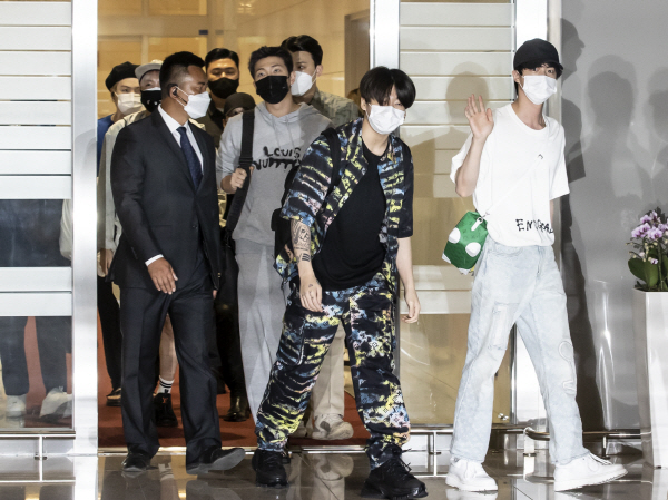 BTS departed to attend UN General Assembly